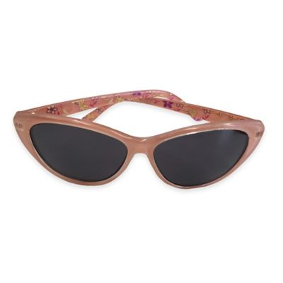 On The Verge Girl's Cat Eye Sunglasses in Peach/Floral Print