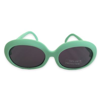 On The Verge Round Sunglasses in Mint