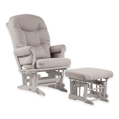 Dutailier® Ultramotion Sleigh Glider and Ottoman in Light Grey