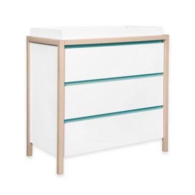 Bingo 3-Drawer Changer Dresser in White