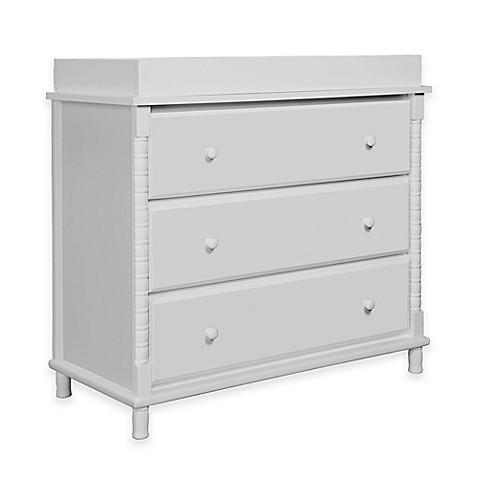 Davinci Jenny Lind 3 Drawer Changer Dresser In Fog Grey