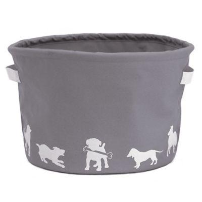 Harry Barker® Dog Silhouette Toy Storage Bin in Grey