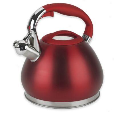 Red Steel Tea Kettles