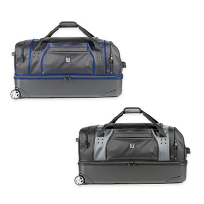 ful® Workhorse 30-Inch Rolling Duffle in Black/Blue