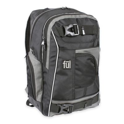 ful® Apex 18-Inch Backpack in Black/Grey