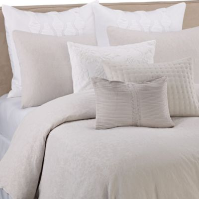Vera Wang Textured Floral Queen Duvet Cover in Quartz Grey