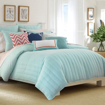 Nautica® Mainsail Reversible Twin Comforter Set in Aqua