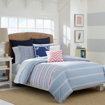 Nautica® Destin Reversible Twin Comforter Set in Light Blue