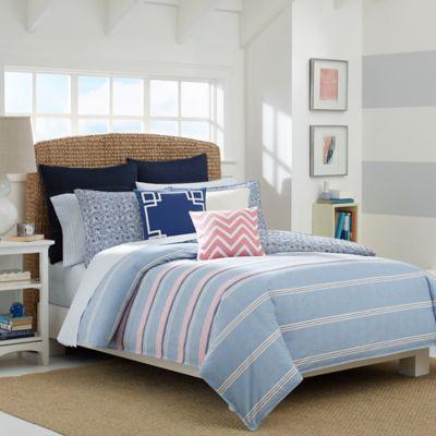 Nautica® Destin Reversible Full/Queen Comforter Set in Light Blue