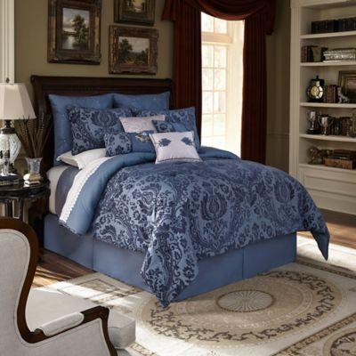 Downton Abbey® Aristocrat Queen Comforter Set in Teal