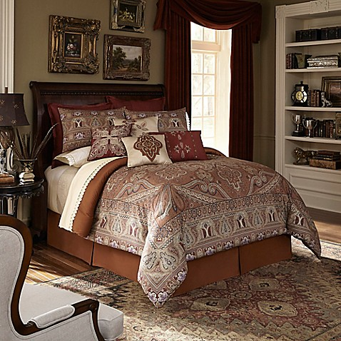 Buy Downton Abbey 174 Grantham King Comforter Set In Rust