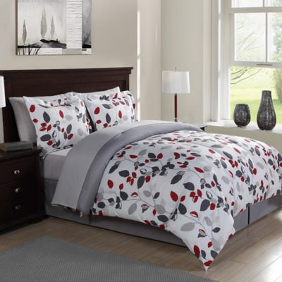 Red and White Comforter Sets