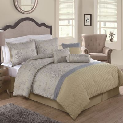 Landon 7-Piece Queen Comforter Set in Yellow