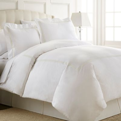 Austin Horn En'Vogue Charlotte Embroidered Queen Duvet Cover Set in Champagne