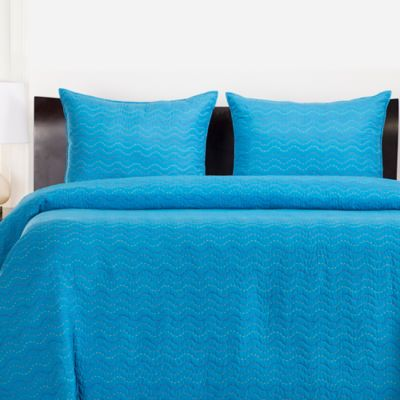 Crayola® 2-3 Piece Stitched Coverlet Set in Cerulean