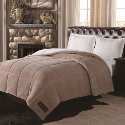Remington® Ultra Velvet Solid Reversible Twin Comforter in Chocolate
