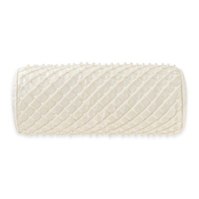 Waterford® Linens Paloma Cascade Neckroll Throw Pillow in Ivory