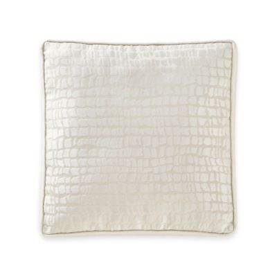 Waterford® Linens Paloma Cascade Embroidered Square Throw Pillow in Ivory