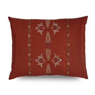 Downton Abbey® Grantham Pleat Oblong Throw Pillow in Red