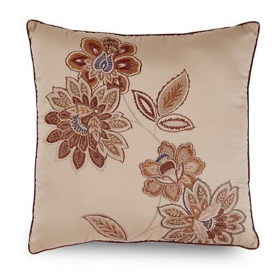 Downton Abbey® Grantham Square Throw Pillow in Red/Gold
