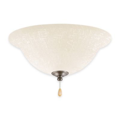 Emerson White Linen LED Bowl Light Kit for Ceiling Fan in Antique Pewter