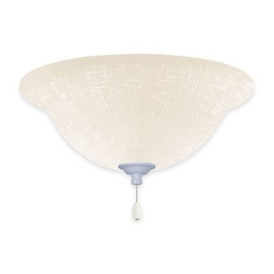 Emerson White Linen LED Bowl Light Kit for Ceiling Fan in Appliance White