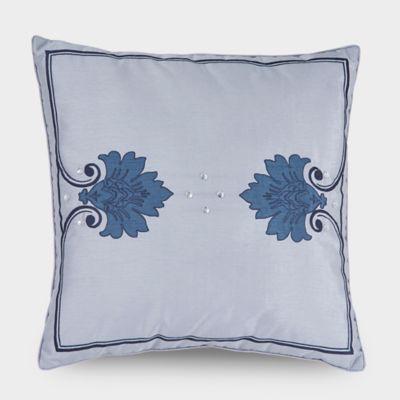 Downton Abbey® Aristocrat Square Throw Pillow in Silver