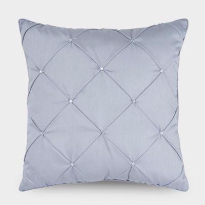 Downton Abbey® Aristocrat Rhinestone Square Throw Pillow in Silver