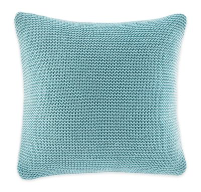 Nautica® Bell Point Knit Square Throw Pillow in Aqua