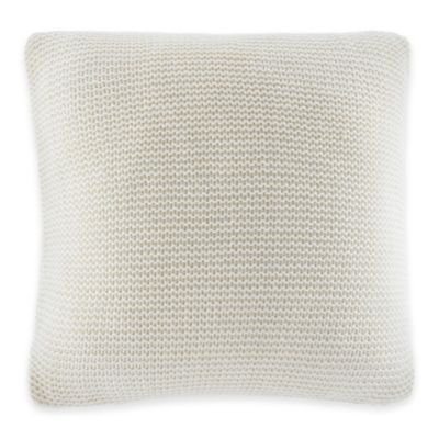 Nautica® Bell Point Knit Square Throw Pillow in White