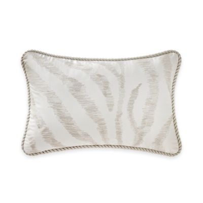 Waterford® Linens Marcello Zebra Oblong Throw Pillow in Natural