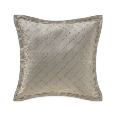 Waterford® Linens Marcello Quatrefoil Decorative Throw Pillow in Taupe