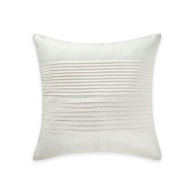 Waterford® Linens Marcello Pleated Throw Pillow in Ivory