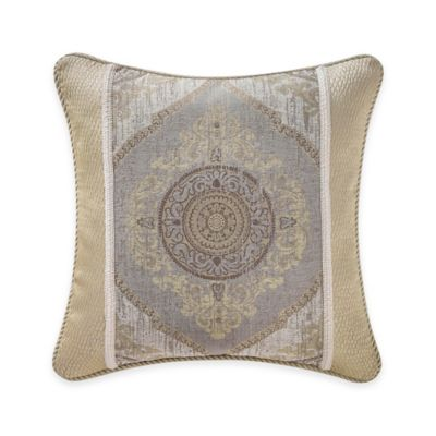 Waterford® Linens Marcello Ogee Throw Pillow in Taupe/Gold