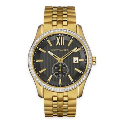 Wittnauer Men's 43mm Crystal Watch in Goldtone Stainless Steel