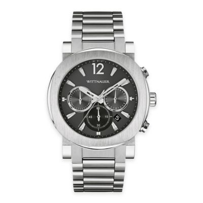 Wittnauer Men's 42mm Grey Dial Chronograph Watch in Stainless Steel