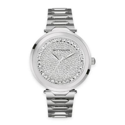 Wittnauer Ladies' 38mm Watch in Stainless Steel w/ Pavé Crystal Dial