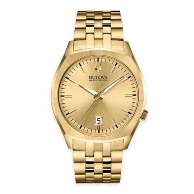 Bulova Accutron II Men's 41mm Round Dial Watch in Goldtone Stainless Steel