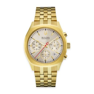 Bulova Accutron II Men's 41mm UHF Chronograph Watch in Goldtone Stainless Steel