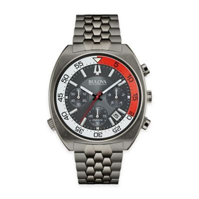 Bulova Accutron II Men's 44mm UHF Chronograph Grey Dial Watch in Gunmetal Stainless Steel