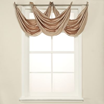Odyssey Insulated Waterfall Window Valance in Linen