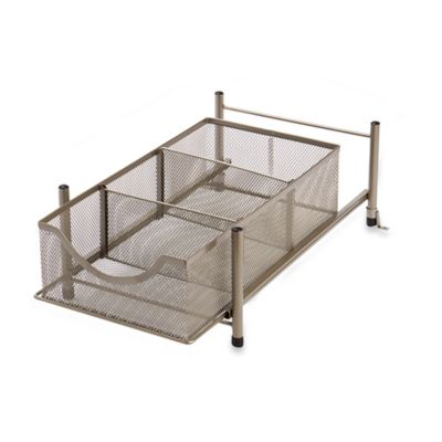 .ORG Medium Under the Sink Mesh Slide-Out Storage Drawer in Bronze