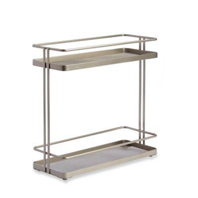 .ORG 2-Tier Bath Shelf in Nickel