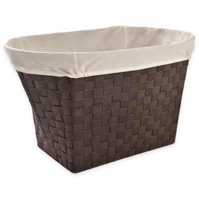 LaMont Home Linden Polyester Oval Hamper in Chocolate