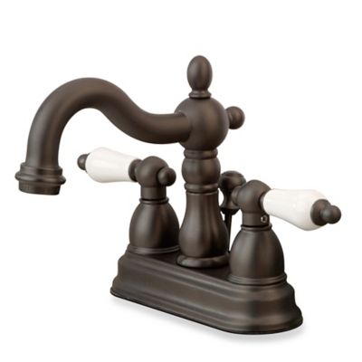 Kingston Brass Heritage 2-Handle Bathroom Faucet in Oil Rubbed Bronze