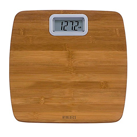 Buy Homedics Bamboo Digital Bathroom Scale From Bed Bath Beyond