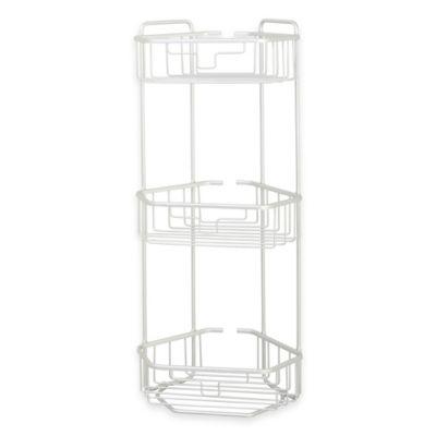 3-Tier Rustproof Aluminum Corner Bath Stand