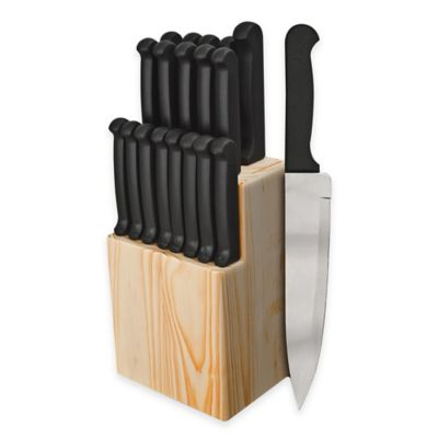Ginsu Quikut 20-Piece Knife Block Cutlery Set in Black