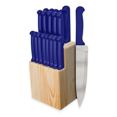 Ginsu Quikut 20-Piece Knife Block Cutlery Set in Blue