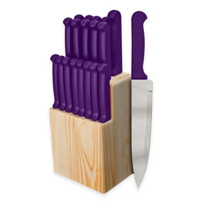 Ginsu Quikut 20-Piece Knife Block Cutlery Set in Purple
